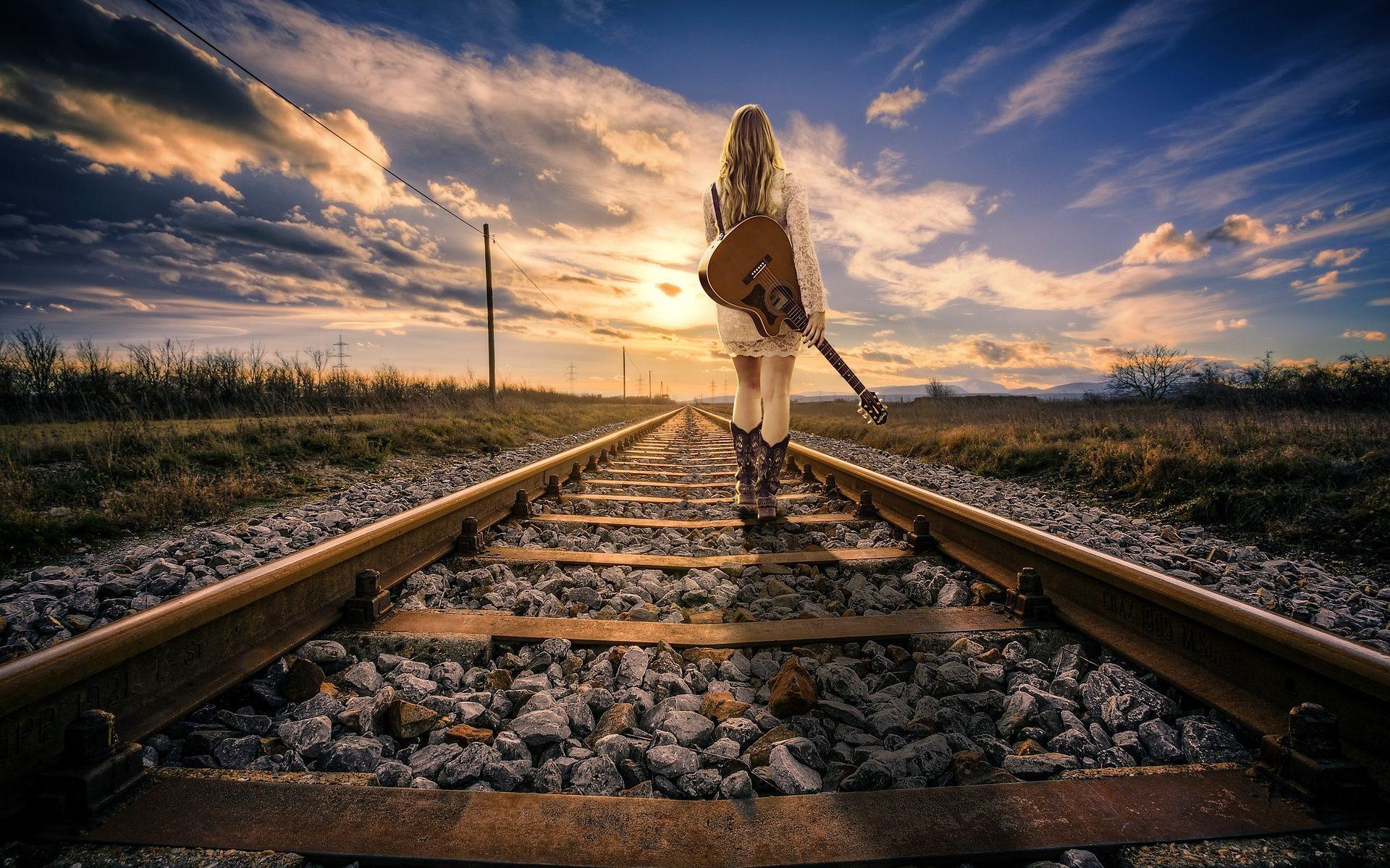 Chemin de fer pour représenter l'idée du cours de la vie
