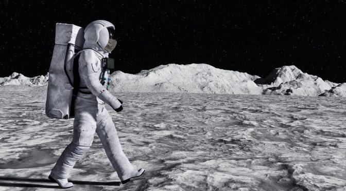 Un astronaute sur la lune pour représenter nos convictions